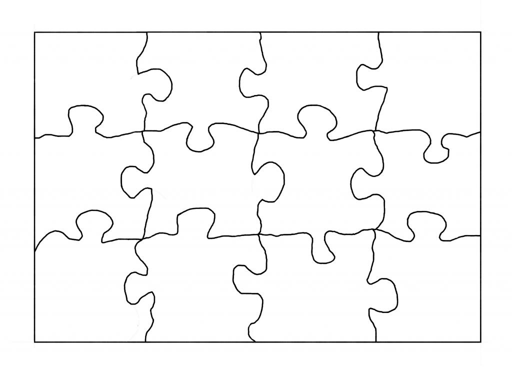 Revered image regarding blank puzzle pieces printable